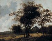 Anthonie Jansz. Van der CROOS. Park of the Castle Huis ten Bosch