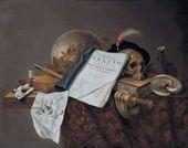 Pieter STEENWIJCK. Vanitas still life. C. 1653