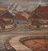 Mstislavas DOBUZINSKIS (Mstislav Dobuzhinsky). Tilto Street. C. 1907