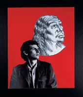 Alexander KOSOLAPOV. Son and Cro-Magnon Man. Part I of triptych Fathers and Son. 1978 (printed 2007)