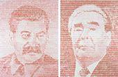 """Edward GOROKHOVSKY. Festive Mosaic """"Stalin-Brezhnev"""". Diptych. 1988–1989"""