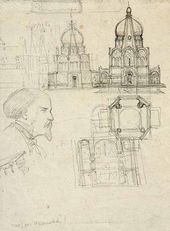 Design for Church. Profile of a Man