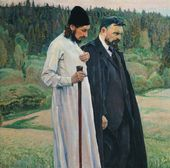 Mikhail NESTEROV. The Philosophers. 1917