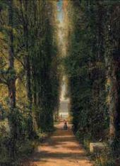 Alexei BOGOLIUBOV. The Avenue. 1867