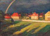 Leonid PASTERNAK. Landscape with Rainbow. 1928