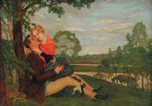 Konstantin SOMOV. The Lovers 1920