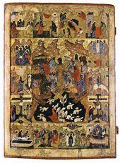 Воскресение Хрисmово – Сошесmвие во ад. XVI в.