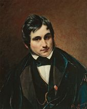 FYODOR MOLLER. Portrait of Fyodor Bruni. 1840