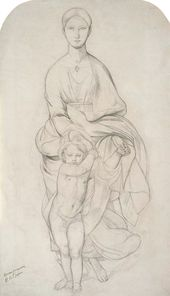 FYODOR BRUNI. The Mother of God and Child. Early 1840s
