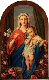 FYODOR BRUNI. The Mother of God with the Infant in Roses. 1843
