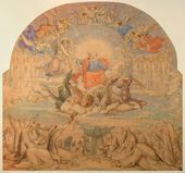 FYODOR BRUNI. The Kings of the Earth Worshipping the King of Heaven. Sketch for the decoration of St. Isaac's Cathedral