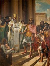 ANDREI IVANOV. St. Ambrose Forbids Emperor Theodosius to Enter the Church 1829