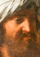 "Head of Joseph of Arimathea. Detail of Andrei Ivanov's painting ""The Descent from the Cross"" (1831, Novgorod the Great Museum-Reserve)"