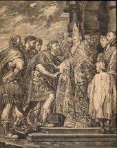 JAKOB MATTHIAS SCHMUTZER (1733-1811). Theodosius and Ambrose. 1784