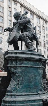 Monument to Mstislav Rostropovich. 2012