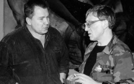 Alexander Rukavishnikov with Mikhail Shemyakin. 1998