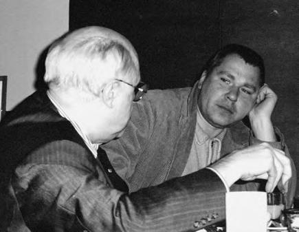 Alexander Rukavishnikov with Mstislav Rostropovich. Москва, 1995