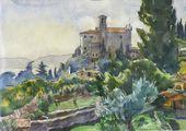 VIKTOR TSIGAL. Italian Landscape. 1990
