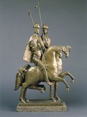 ALEXANDER TSIGAL. Boris and Gleb Riding Horses - The First Russian Saints. 1989