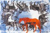 "SERGEI TSIGAL. Triptych ""Climbing Mount Kazbek"". 2008"