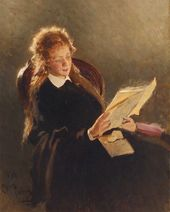 Ilya REPIN. Girl Reading. 1870