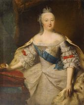 Georg Christoph GROOTH. Portrait of the Empress Elizaveta Petrovna. 1740-е (?)