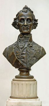 UNKNOWN SCULPTOR. Bust of Alexander Suvorov. 1804