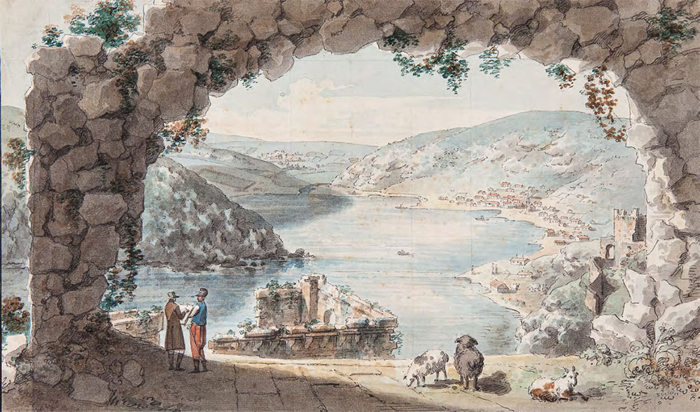 Yemelian KORNEEV (1780-1839). View of Balaklava Bay. 1804