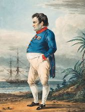 Alexander ORLOVSKY (1777-1832). Napoleon on the Island of St. Helena Two Months Before His Death. 1823