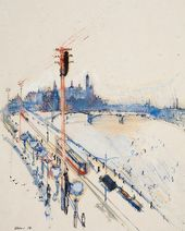 Alexander LABAS. Moskvoretsky Bridge. 1926
