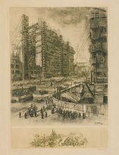 Zoya KULIKOVA. Construction of Okhotny Ryad. Second half of the 1930s