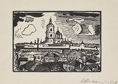 Vladimir FAVORSKY. A View of Moscow. Novospassky Monastery. 1918