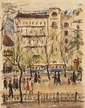 Daniil DARAN. Tverskoy Boulevard. 1927