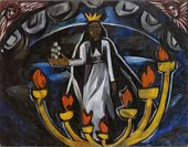 Natalia GONCHAROVA. The Elder with Seven Stars (Apocaiypse). 1910
