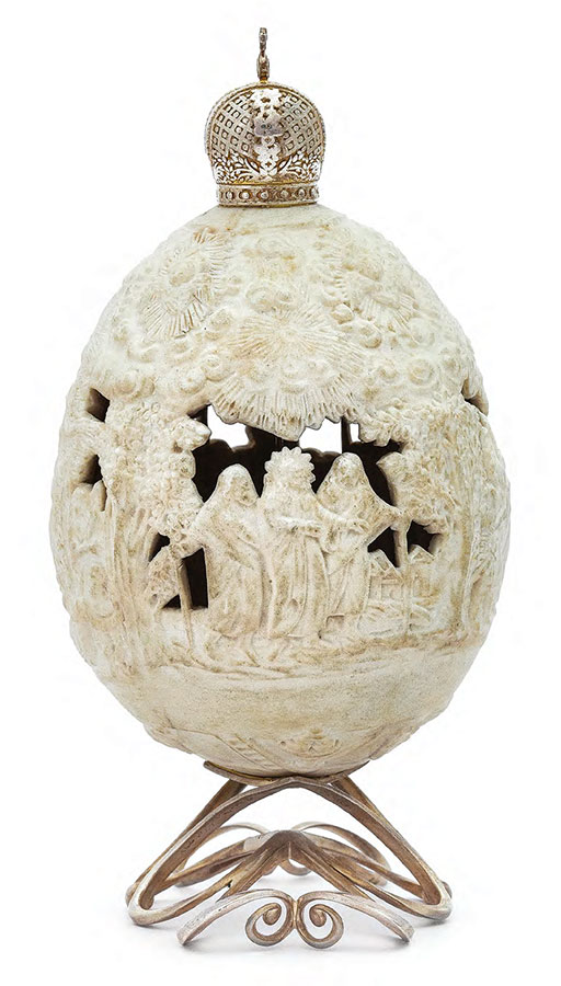 Easter Egg. Imperial Porcelain Factory, St. Petersburg. 1860-1870s (?)