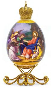 Easter Egg 'Angels Came and Ministered unto Christ in the Desert'