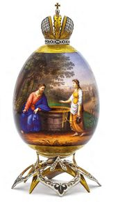 "Easter Egg ""Jesus Christ and the Samaritan Woman"""