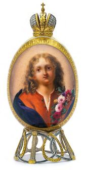 Easter Egg «The Infant Christ with a Floral Wreath»