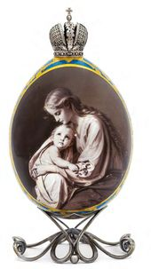 "Easter Egg ""Madonna and Child"""