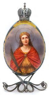 Easter Egg 'The St. Great Martyr Alexandra'