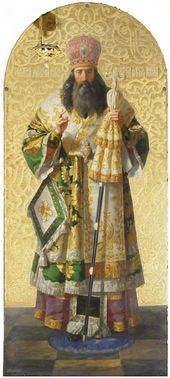 Fyodor BRYULLOV. Icon. St. Alexei. 1847–1848