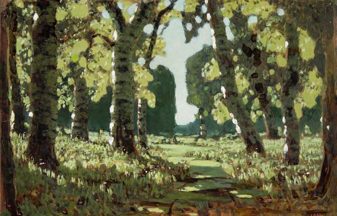 <strong>A Birch Grove</strong>. 1879