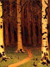 A Birch Grove. 1880s