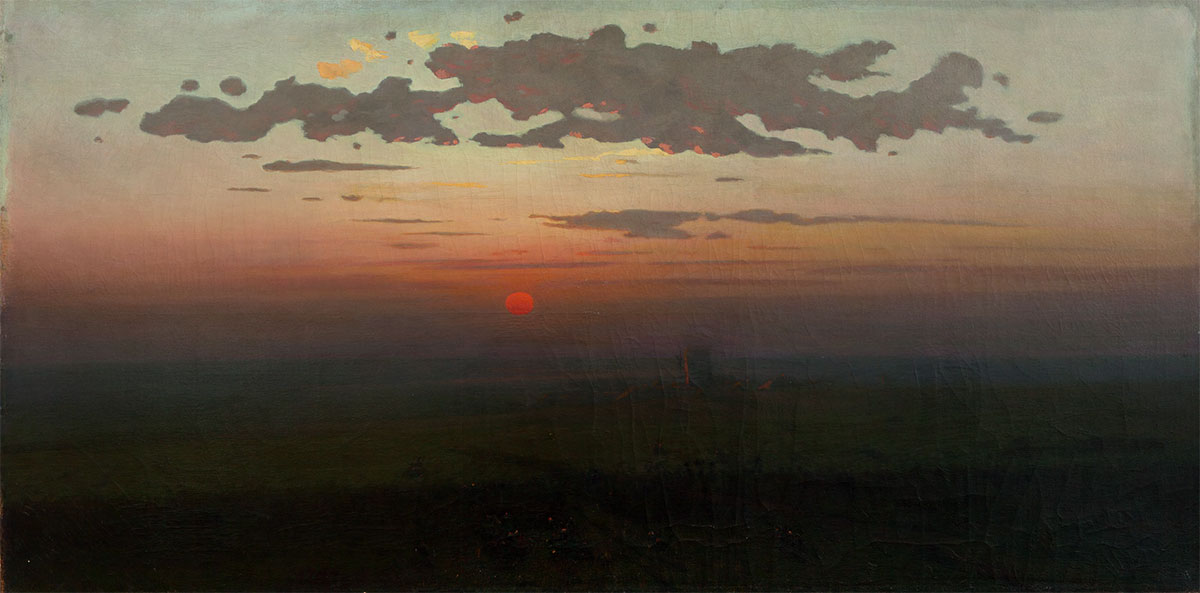 Sunset on the Steppes. 1900