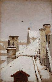 Rooftops. Winter. 1876