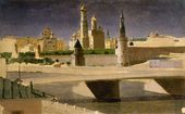 Moscow. View of the Kremlin from the Zamoskvorechye District. 1882