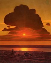 Arkhip KUINDZHI. Red Sunset on the Dnieper. 1905–1908. Detail