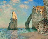 Claude MONET. The Cliffs at Etretat. 1885