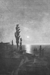 """A Tatar Village on Crimea's South Coast by Moonlight"" (1868, present whereabouts unknown)"