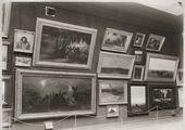 Display in the Tretyakov Gallery. Hall 4 with paintings by Arkhip Kuindzhi, Grigory Myasoyedov and others. (left longitudinal wall). Photograph. 1898
